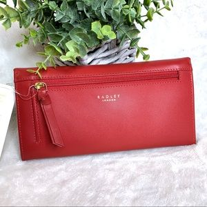 RADLEY LONDON Bags - Radley In Bloom Red Flapover Matinee Wallet